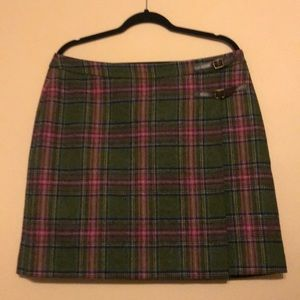 Boden Wool Plaid Skirt Size 12 British Tweed Kilt